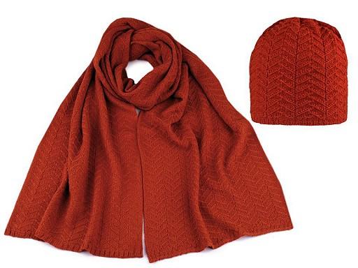 Dámská zimní sada čepice a šála