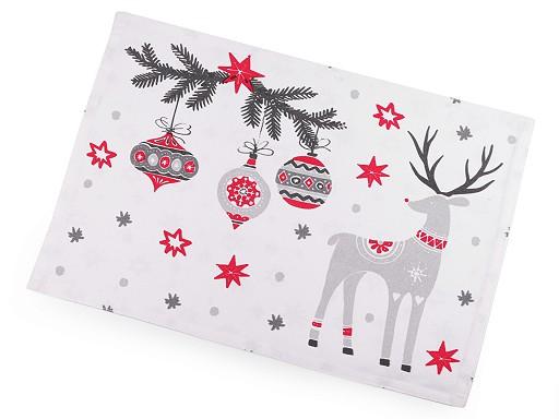 Karácsonyi teríték kétoldalas 33x45 cm