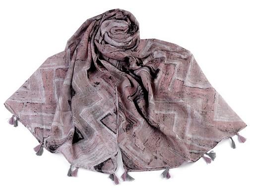 Szal / chusta z frędzlami 90x180 cm