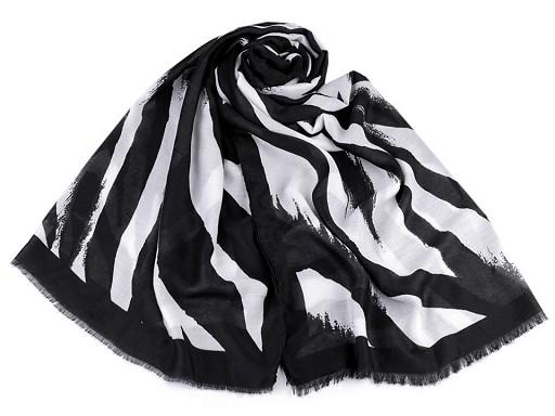 Šála zebra 80x180 cm