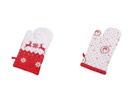 Kuchyňská chňapka kotva, srdce, puntík, vánoční motivy s magnetem