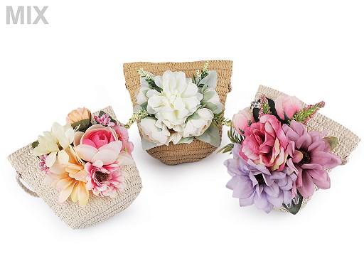 Dievčenská kabelka s kvetmi 14x15 cm