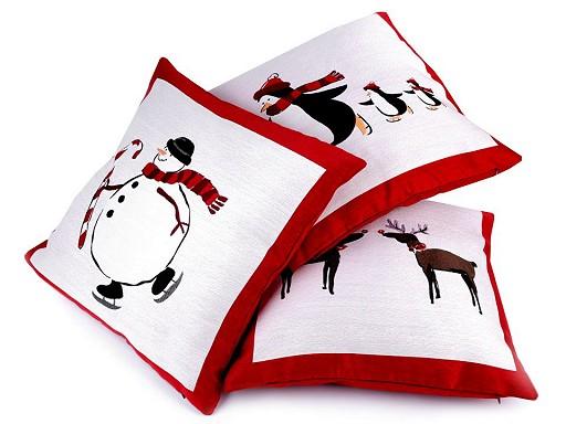 Vánoční povlak na polštář 45x45 cm