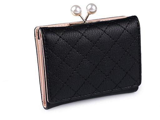 Dámská peněženka s perlami 8,5x10,5 cm