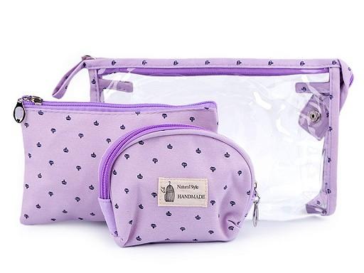 Kosmetické tašky sada 3 ks