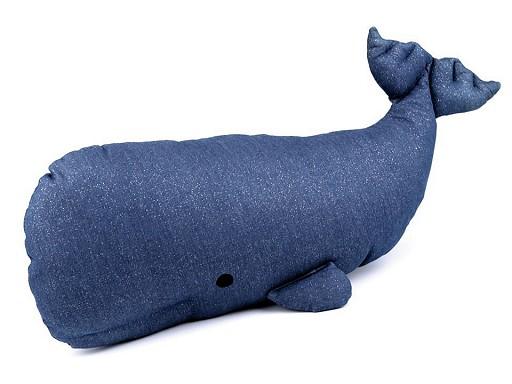 Poduszka wieloryb 22x66 cm