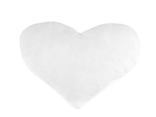 Dekorační polštář s výplní - srdce