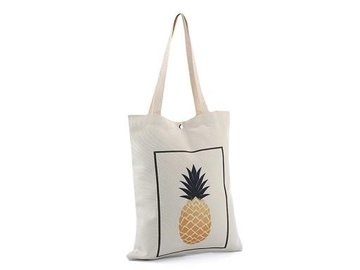 Textilní taška ananas 34x39 cm