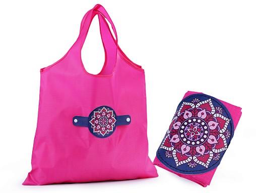 Skládací nákupní taška mandala, motýl 39x45 cm