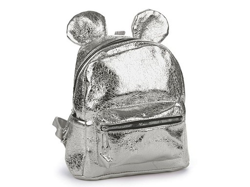 Plecak z metalicznym połyskiem