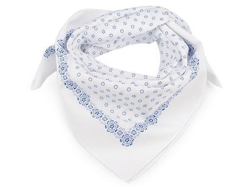 Bavlněný šátek drobné květy 70x70 cm