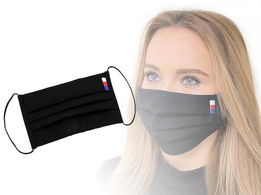 Designová skládaná rouška s českou trikolorou
