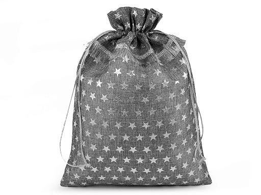 Darčekové vrecúško hviezda veľké 30x40 cm imitácia juty