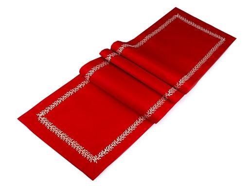 Vánoční běhoun na stůl s lurexovým prýmkem 40x170 cm