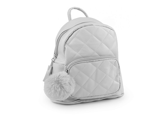 Plecak dziewczęcy z pomponem