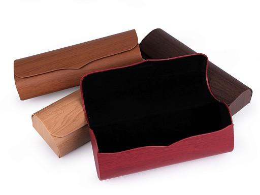 Pouzdro na brýle imitace dřeva 6x16 cm