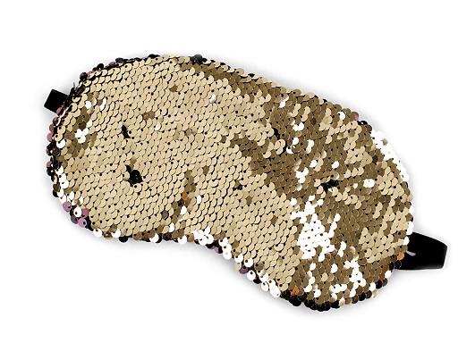 Maska na spaní s oboustrannými flitry 10x19 cm