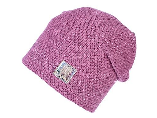 Dámská čepice s lurexem