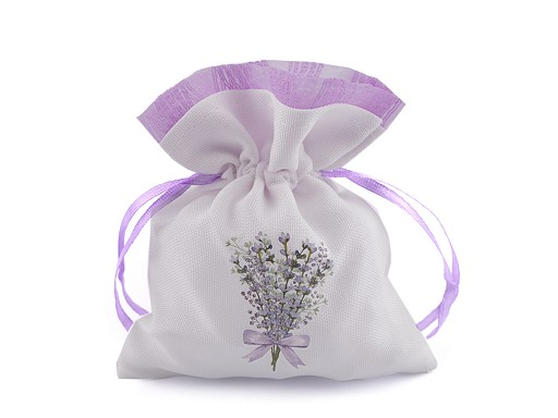 Gift bag with lavender print 10x13 cm