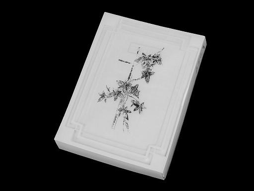 Dámský kapesník smuteční v krabičce