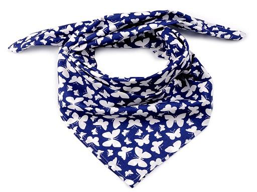 Bavlněný šátek motýl 65x65 cm