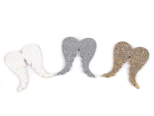 Dekorace andělská křídla s glitry