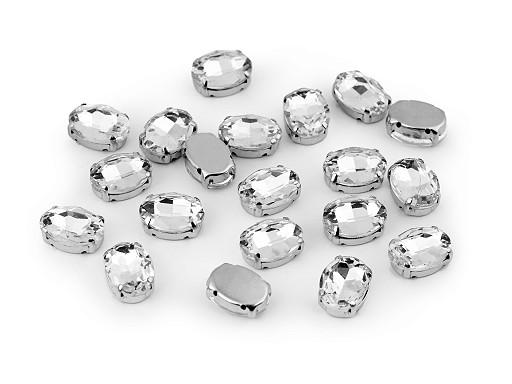 Kamienie / dżety szlifowane do przyszycia owal