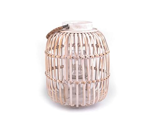 Wicker Lantern 25x35 cm