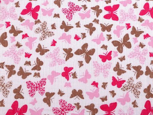 Bavlnená plienkovina / mušelín motýle