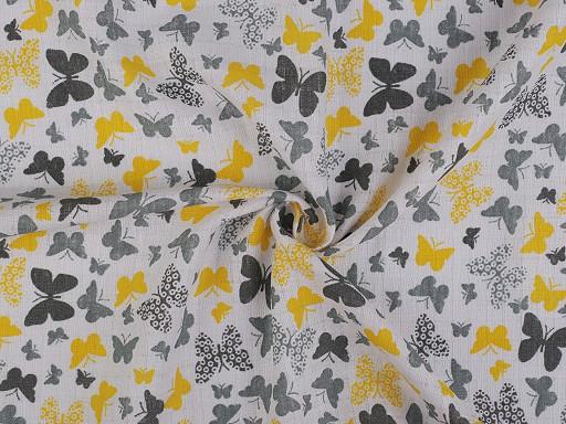 Bavlněná plenkovina / mušelín motýli