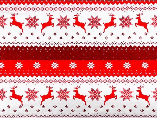 Tkanina bawełniana płatki śniegu i renifer