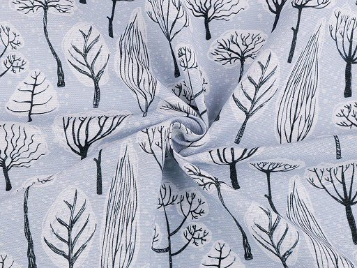 Tkanina dekoracyjna Loneta choinki