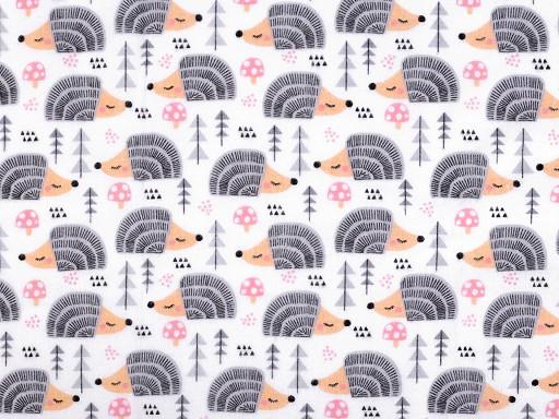 Bavlněný flanel ježci