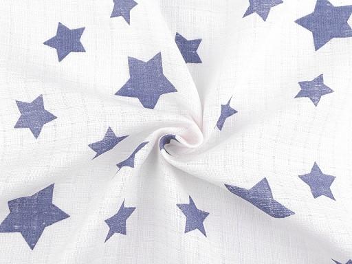 Bavlnená plienkovina / mušelín hviezdy veľké