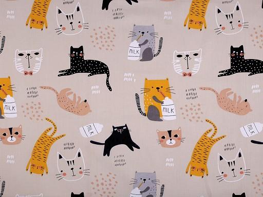 Tkanina bawełniana kotki