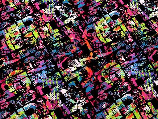 Teplákovina bavlněná nepočesaná s digitálním tiskem barevné písmo