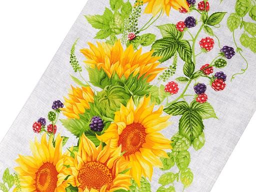 Wafelpikee Baumwolle Sonnenblume