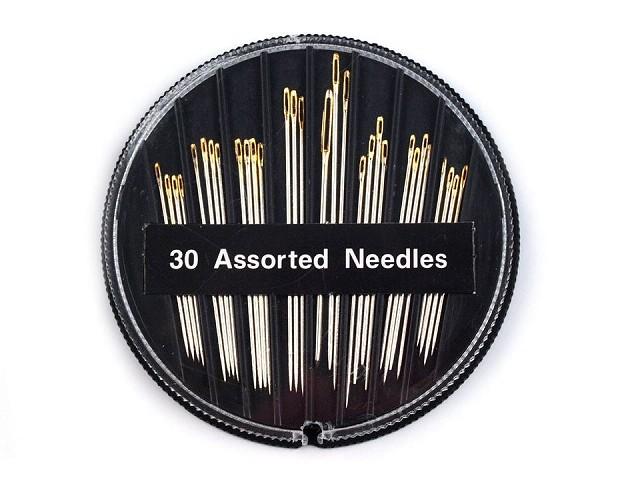 Nadeln kompakt Sharps sortiert mit vergoldetem Nadelöhr