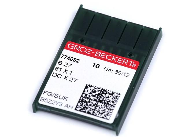 Strojové jehly Groz - Beckert B27 80; 90 pro overlocky / na průmyslové šicí stroje