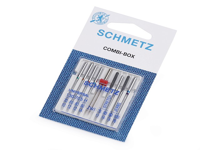 Strojové ihly Combi box 70; 80; 90; 100 Schmetz na karte
