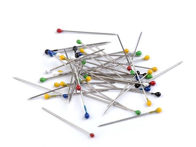 Špendlíky s plastovou hlavičkou délka 27 mm