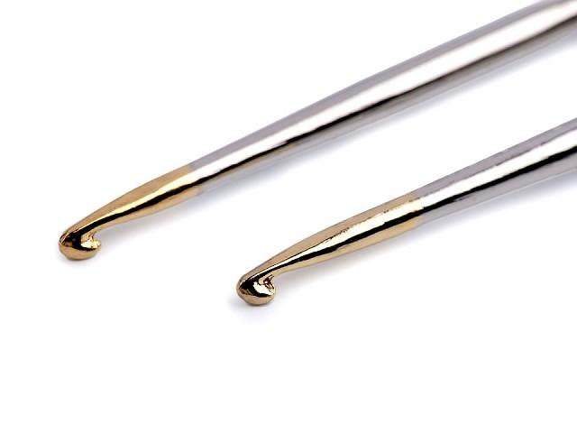 Háček na háčkování se zlatou špičkou vel. 0; 1; 2; 3; 4