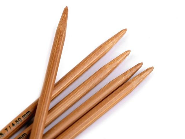 Bambusové ponožkové jehlice č. 2; 2,5; 3; 3,5; 4; 4,5 Pony