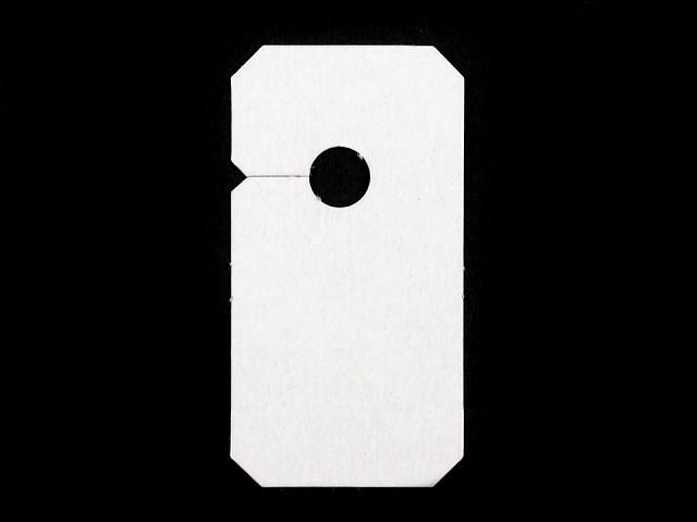 Zawieszki do zamków błyskawicznych 30x57mm papierowe