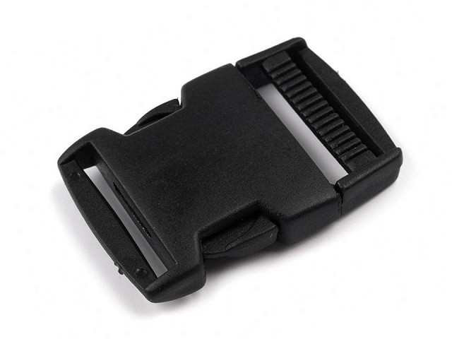 Side release buckle with strap adjuster, inner width 30mm