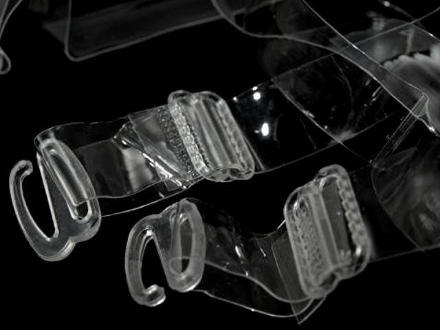 Bretele sutien transparente, 15 mm