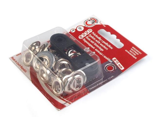 Ocheți metalici inoxidabili cu dispozitiv de atașare, Ø7 mm