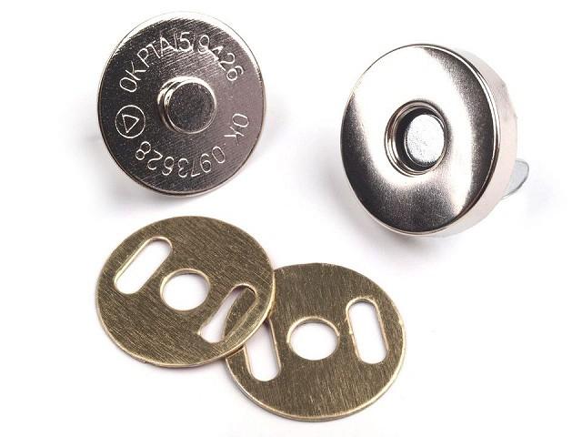 Zapięcie magnetyczne Ø18 mm nikiel