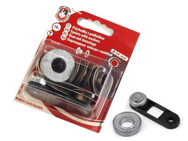 Ösen mit Scheibe Innen-Ø 12mm / Außen-Ø 24mm