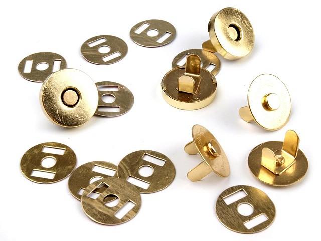 Închizatori / Capse magnetice, finisaj finisaj auriu, Ø18 mm
